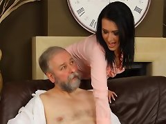 Pleasing Daddy - Exclusive movies of horny young sluts fucking guys over the age of 50!