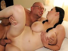Big titted chubby Laurea gets a much older cock
