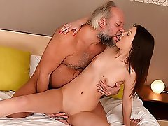 We knew that little Anina has a healthy sexual appetite, but we never knew she is so kinky. Lately she hangs out with our horny geezer friend Albert b